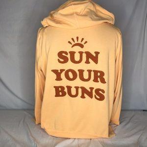 Victorias Secret Full Zip Hoodie Sun Your Buns XL